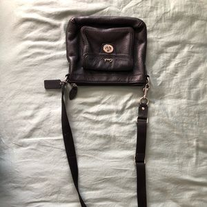 Black Coach crossbody purse
